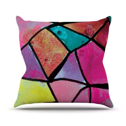 KESS InHouse Stain Glass 3 Throw Pillow