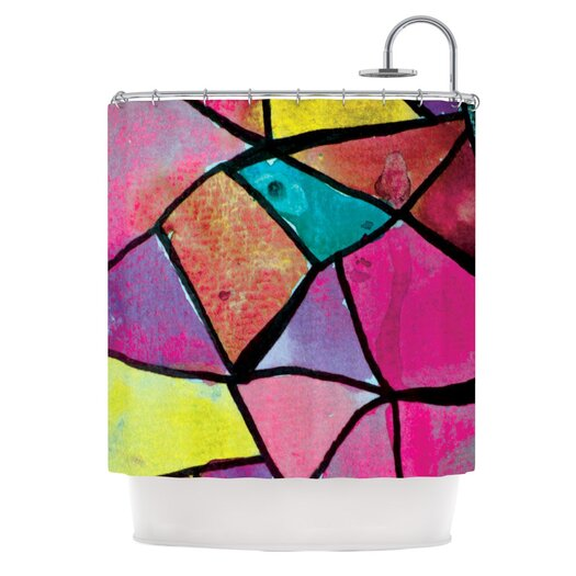 KESS InHouse Stain Glass 3 Polyester Shower Curtain