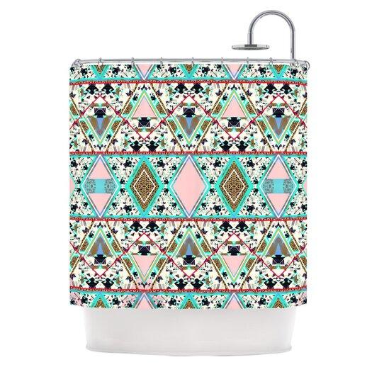 KESS InHouse Deco Hippie Polyester Shower Curtain