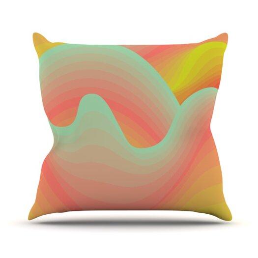 KESS InHouse Way of the Waves Blossom Bird Throw Pillow