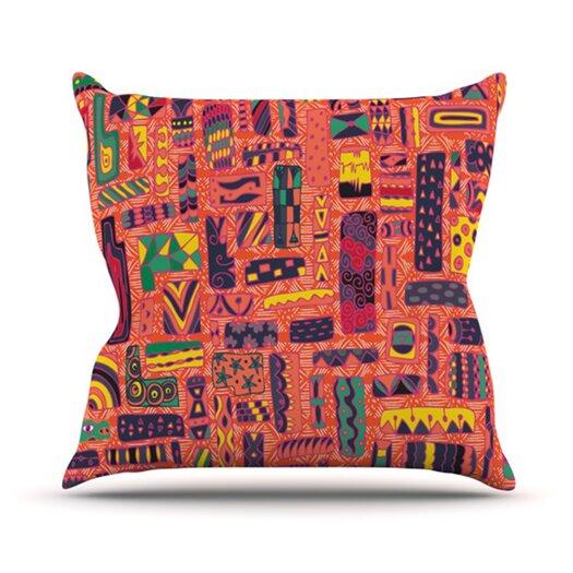 KESS InHouse Squares Throw Pillow