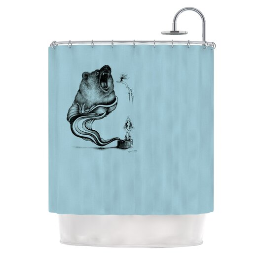 KESS InHouse Hot Tub Hunter II Polyester Shower Curtain