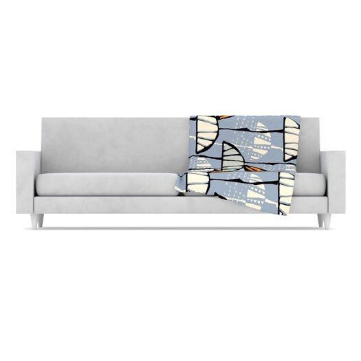 KESS InHouse Eden Microfiber Fleece Throw Blanket