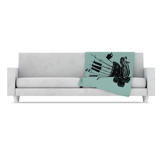 KESS InHouse Ship Microfiber Fleece Throw Blanket
