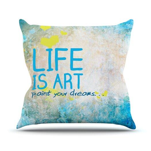 KESS InHouse Life Is Art Throw Pillow