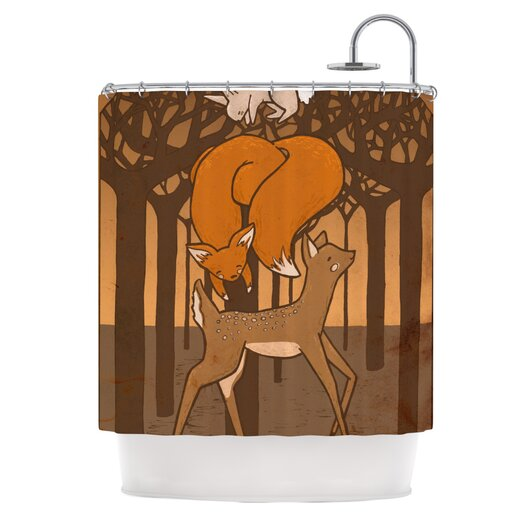 KESS InHouse Friends Polyester Shower Curtain