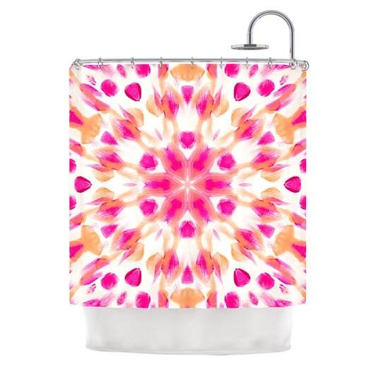 KESS InHouse Batik Mandala Polyester Shower Curtain
