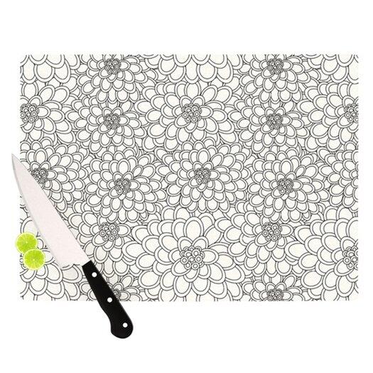 KESS InHouse Flowers Cutting Board