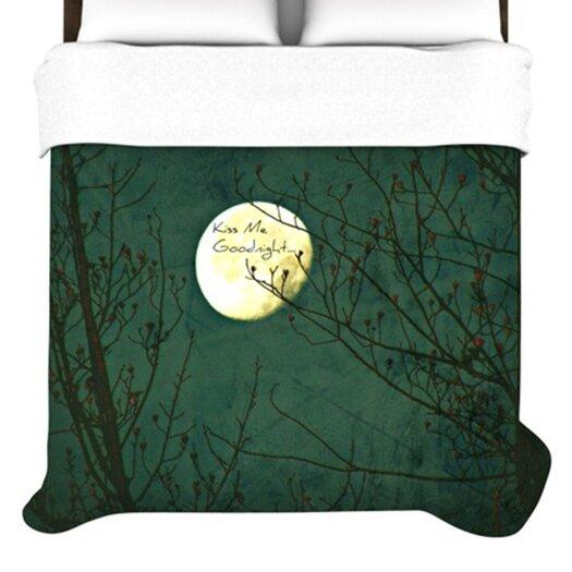 KESS InHouse Kiss Me Goodnight Duvet Cover