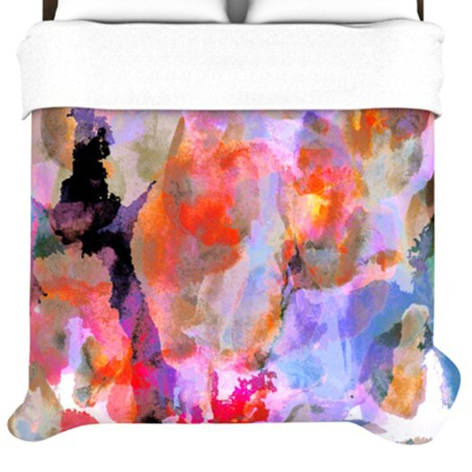 KESS InHouse Painterly Blush Duvet Cover