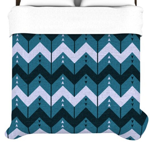 KESS InHouse Chevron Dance Duvet Cover