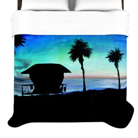 KESS InHouse Carlsbad State Beach Duvet Cover