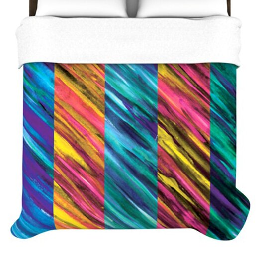 KESS InHouse Set Stripes I Duvet Cover