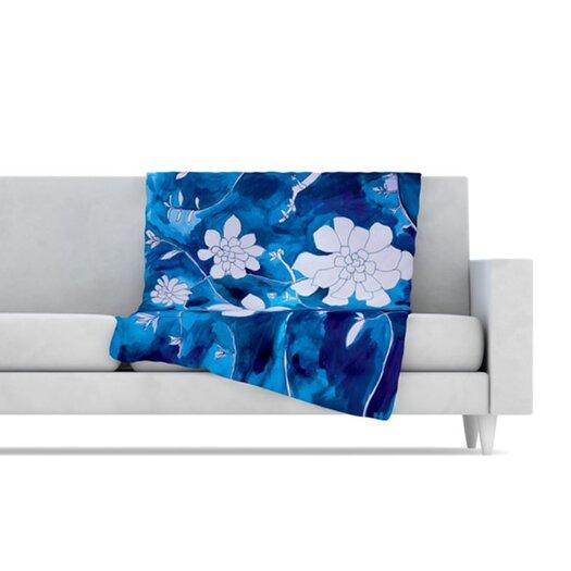 KESS InHouse Succulent Dance 1 Fleece Throw Blanket