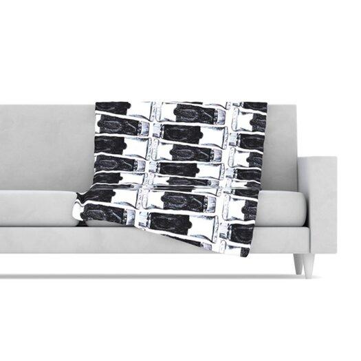 KESS InHouse Paint Tubes Fleece Throw Blanket