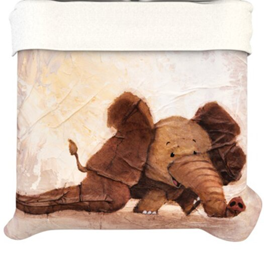 KESS InHouse The Elephant with the Long Ears Duvet Cover