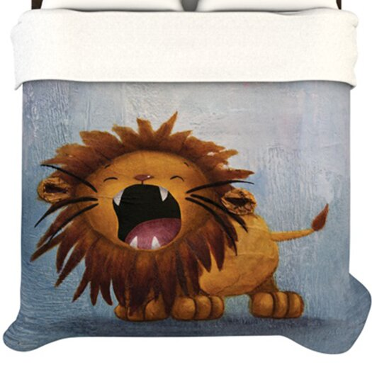 KESS InHouse Dandy Lion Fleece Duvet Cover