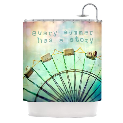 KESS InHouse Every Summer Has a Story Polyester Shower Curtain