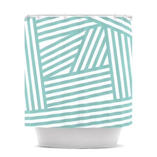 KESS InHouse Stripes Polyester Shower Curtain