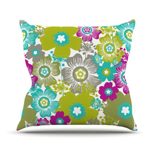 KESS InHouse Little Bloom Throw Pillow