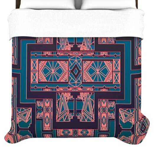 KESS InHouse Golden Art Deco Duvet Cover