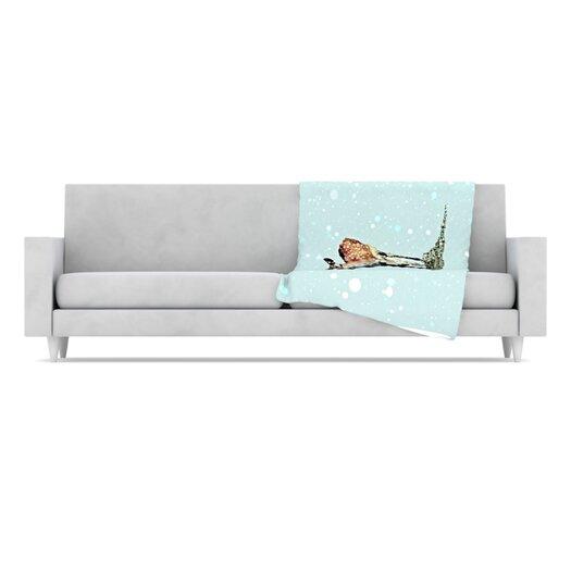 KESS InHouse Fawn Fleece Throw Blanket