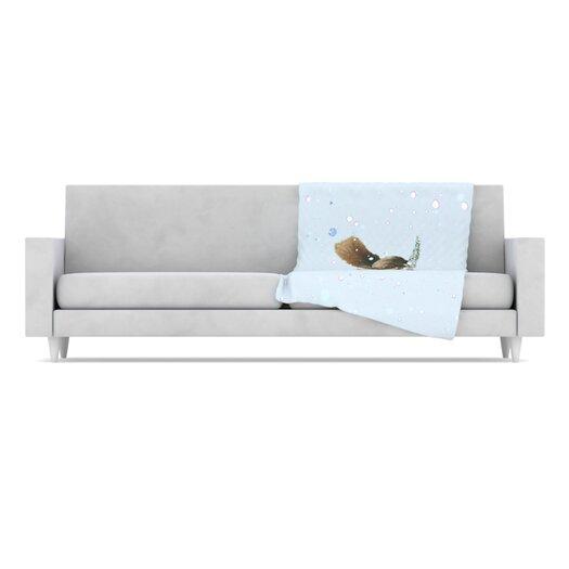 KESS InHouse Squirrel Fleece Throw Blanket