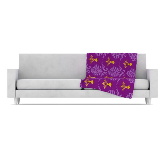 KESS InHouse Crowns Fleece Throw Blanket