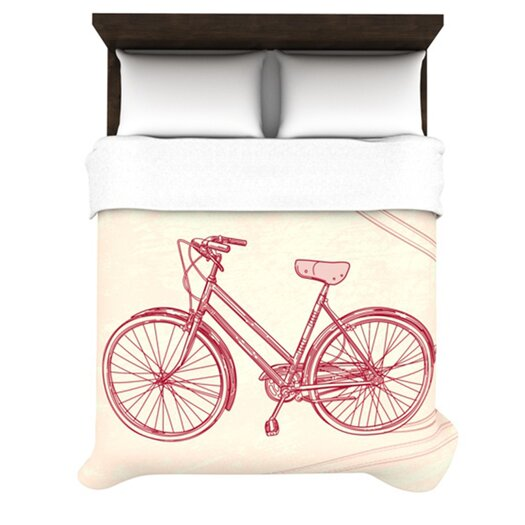 KESS InHouse Bicycle Duvet Cover