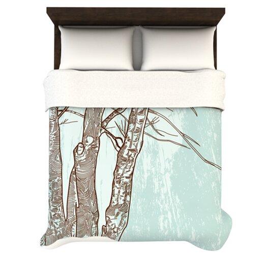 KESS InHouse Winter Trees Duvet Cover