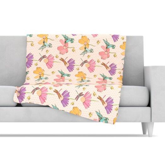 KESS InHouse Magic Garden Fleece Throw Blanket