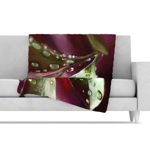 KESS InHouse April Showers Fleece Throw Blanket