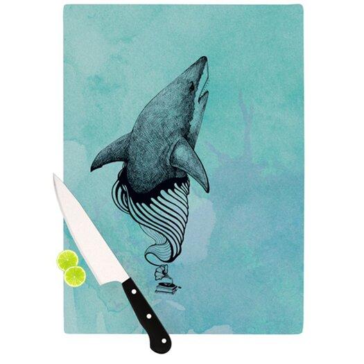 KESS InHouse Shark Record III Cutting Board