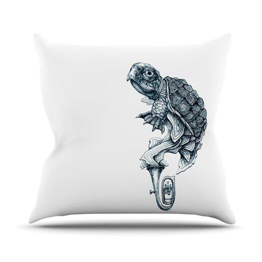 KESS InHouse Turtle Tuba Throw Pillow