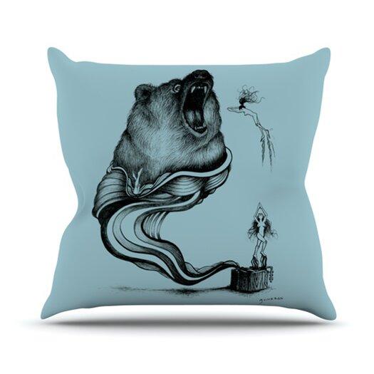 KESS InHouse Hot Tub Hunter II Throw Pillow