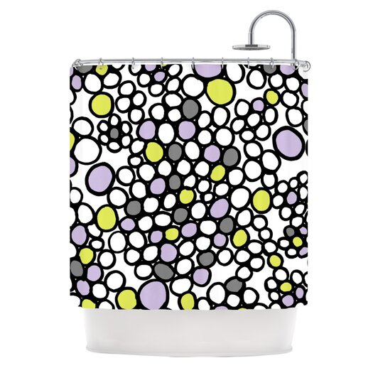 KESS InHouse Pebbles Polyester Shower Curtain