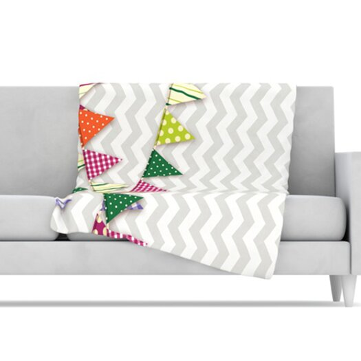KESS InHouse Flags 1 Microfiber Fleece Throw Blanket