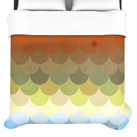 KESS InHouse Half Circles Waves Duvet