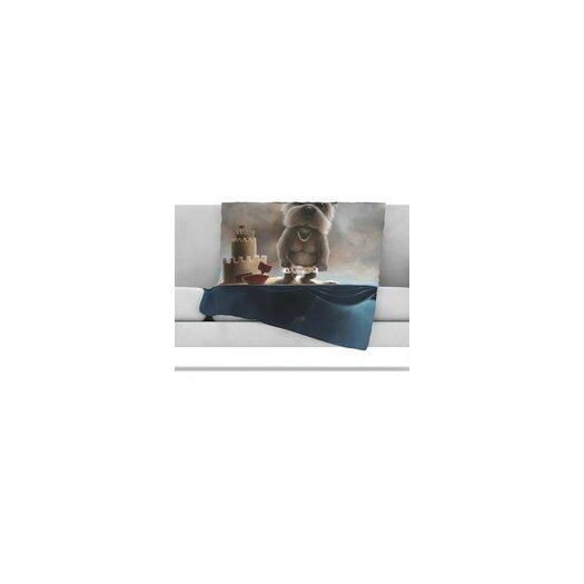 KESS InHouse Grover Microfiber Fleece Throw Blanket