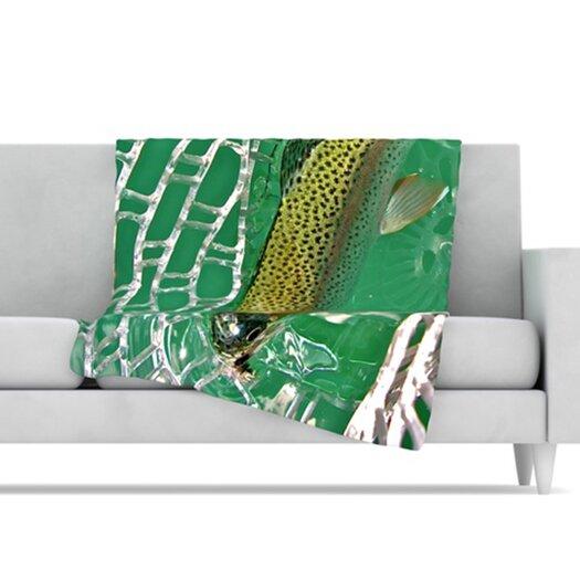 KESS InHouse Catch Fleece Throw Blanket