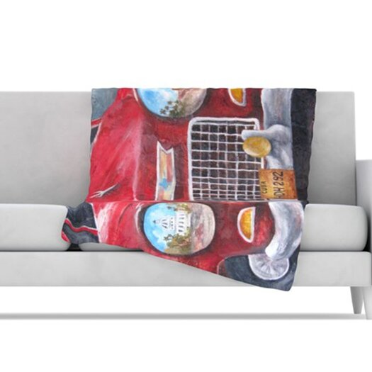 KESS InHouse Vintage in Cuba Fleece Throw Blanket