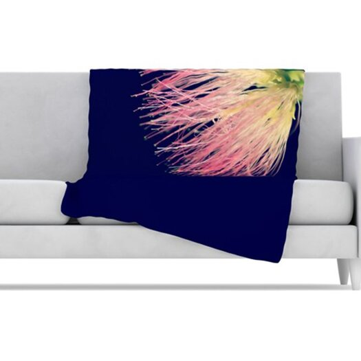 KESS InHouse Oh Happy Day Fleece Throw Blanket