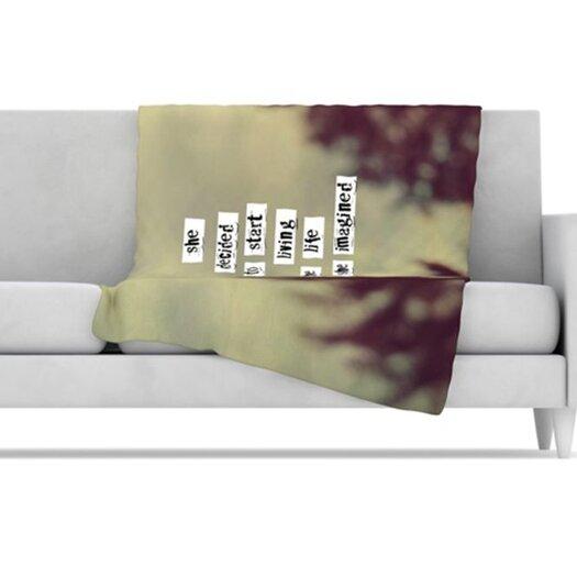 KESS InHouse Her Life Fleece Throw Blanket