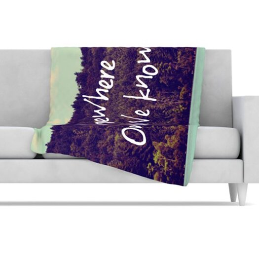KESS InHouse Somewhere Fleece Throw Blanket