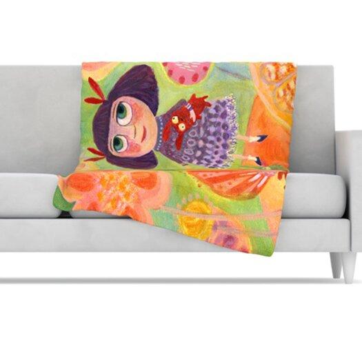 KESS InHouse Flowerland Fleece Throw Blanket