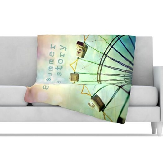 KESS InHouse Every Summer Has a Story Fleece Throw Blanket