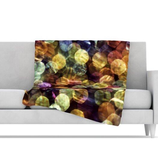 KESS InHouse Warm Sparkle Microfiber Fleece Throw Blanket
