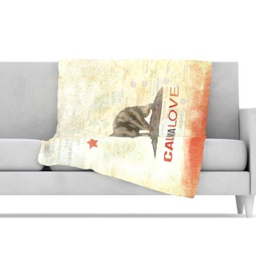 KESS InHouse Cali Love Microfiber Fleece Throw Blanket