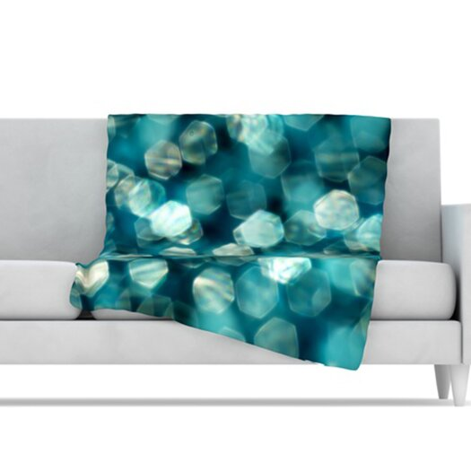 KESS InHouse Shades of Blue Microfiber Fleece Throw Blanket