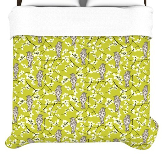 KESS InHouse Blossom Bird Duvet
